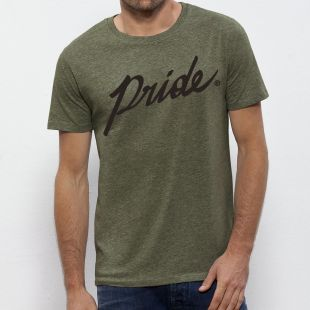 HEATHER KHAKI SCRIPT TEE
