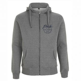 GREY CROSS ZIP HOODY