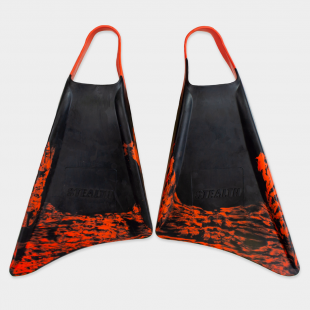 PALMES BODYBOARD STEALTH S1 SUPREME FINS BLACK/FLURO RED