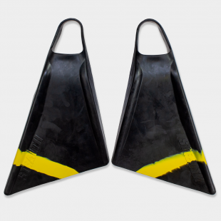 BODYBOARD SWIMFINS STEALTH S2 PINNACLE FINS BLACK/FLURO YELLOW