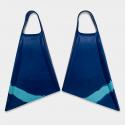 BODYBOARD SWIMFINS STEALTH S2 PINNACLE FINS NAVY/ICE BLUE