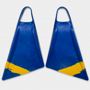 BODYBOARD SWIMFINS STEALTH S2 PINNACLE FINS NAVY/SUN GOLD