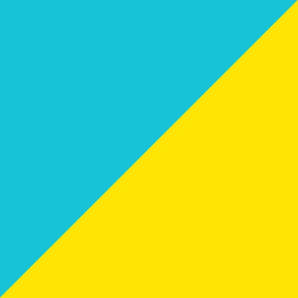 Aqua Blue/Yellow